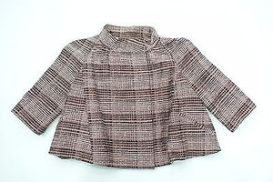 Marni Plaid Bolero Style Or Brown and Pink Jacket