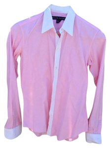 Ralph Lauren Button Down Shirt Pink/ White
