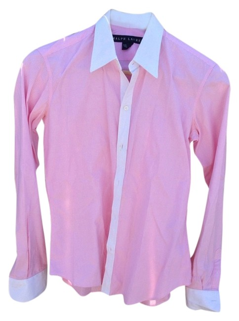Preload https://item1.tradesy.com/images/ralph-lauren-pink-white-button-down-top-size-6-s-1008025-0-0.jpg?width=400&height=650