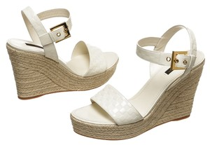 Louis Vuitton White Wedges