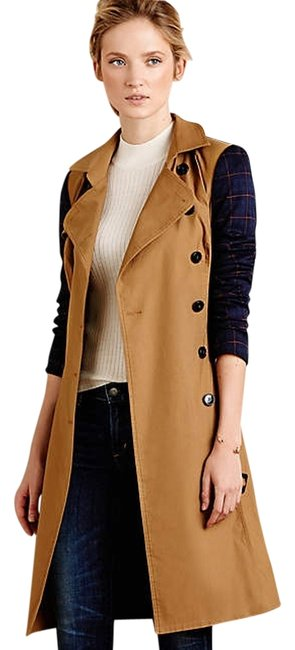 Item - Beige Colorblocked Plaid By Harlyn S Coat Size Petite 4 (S)