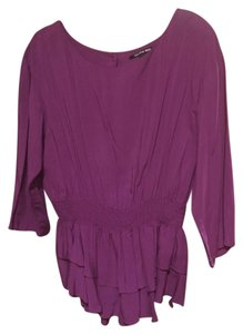 Gianni Bini 3/4 Sleeves Longer Top Plum