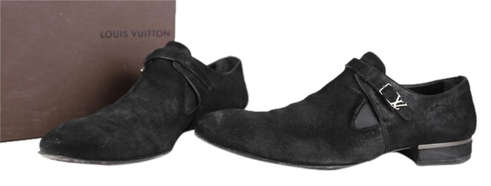 7857ca783802 Louis Vuitton Black Mens Suede Dress - Formal Shoes Size US 9 ...