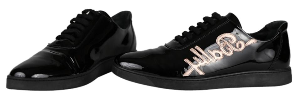 7ef48f14d1c Bally Black Stilo Patent Leather Lace Up Sneakers Sneakers Size US ...