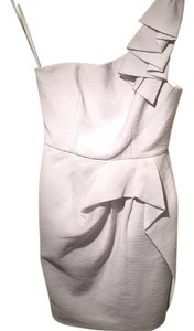 BCBGMAXAZRIA Peplum One Mini Silver Dress