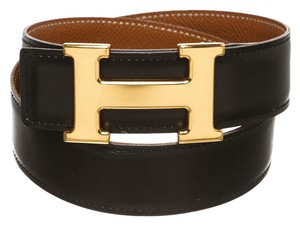 Herms Hermes H Constance Leather Belt