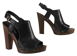 Ralph Lauren Leather Platform Black Platforms
