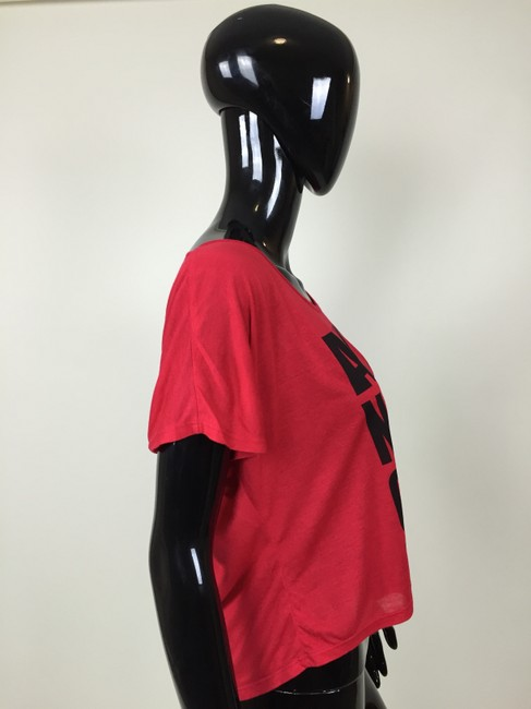 Other Crop Sleeve T Shirt Red, Black