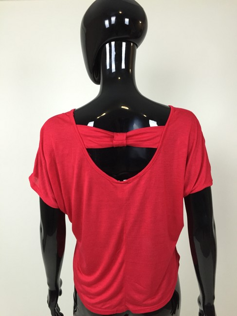 Other Sleeve T Shirt Red, Black
