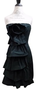 BCBGMAXAZRIA Ruffle Party Mini Chiffon Dress