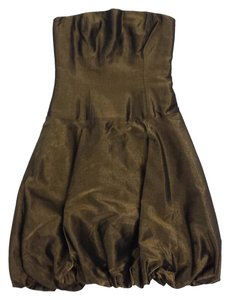 Ralph Lauren short dress Gold Metallic Sleeveless on Tradesy