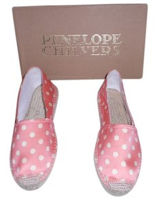 Penelope Chilvers Silky Texture Lovely Polka Dot Pink Flats