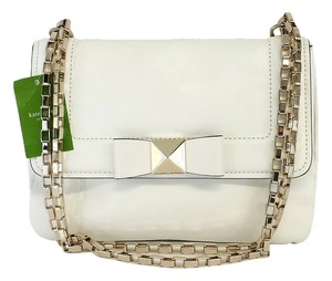 Kate Spade Justine White Leather Cross Body Bag