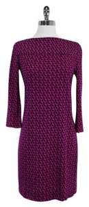 Diane von Furstenberg short dress Magenta Black Geo Print on Tradesy