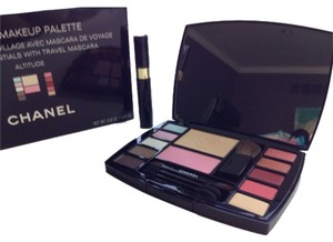 Chanel NEW AUTHENTIC CHANEL make up kit palette travel bag brushes mascara MADE IN FRANCE
