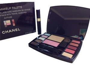 Chanel NEW AUTHENTIC CHANEL makeup kit palette travel brushes bag mascara MADE IN FRANCE