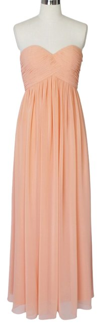 Preload https://item5.tradesy.com/images/peach-strapless-sweetheart-chiffon-long-formal-dress-size-12-l-1008204-0-0.jpg?width=400&height=650