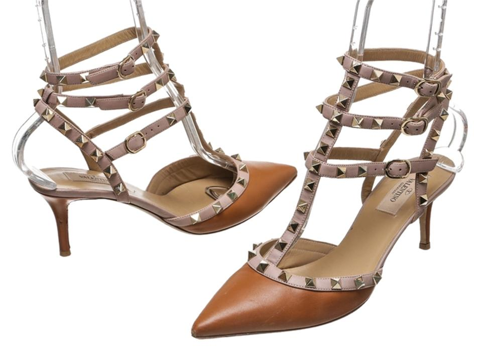 Valentino Sandals Mauve/Brown And Leather Rockstud 39) Sandals Valentino 83f675