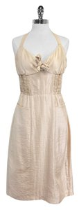 Betsey Johnson Blush Metallic Halter Dress
