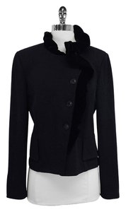 St. John Black Knit Velvet Jacket