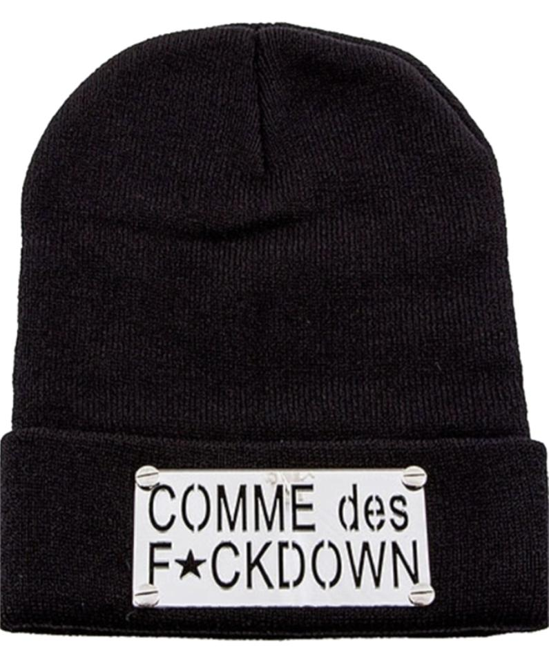 d989b9aef02 Silver Comme Des F ckdown Beanie Hat - Tradesy