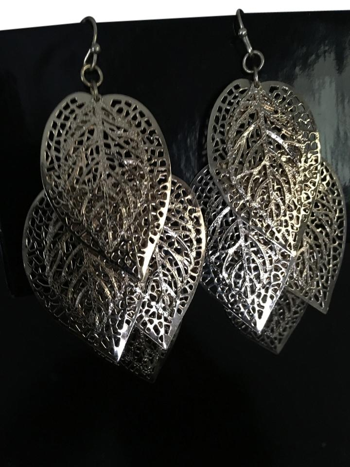 Nicole Miller Gold Leaf Earrings From