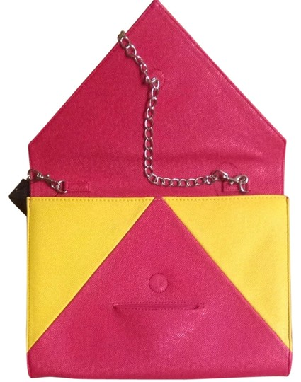 Tinley Road Strawberry And Yellow Clutch