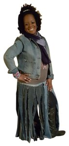 Other Denim Large Small Blue Jeans Long Plus Size Vintage Ethnic African Uniq Katina Washington Gloria Rockin Republic Cache Maxi Skirt Multiple