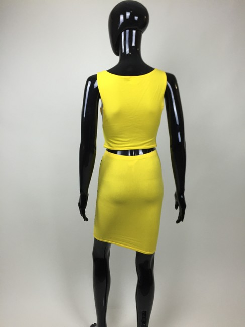 Other Top Crop Top Monster Skirt Yellow