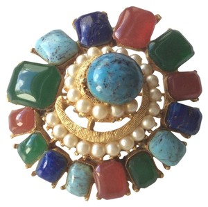 Other Vintage BSK Cabochon Brooch Pin