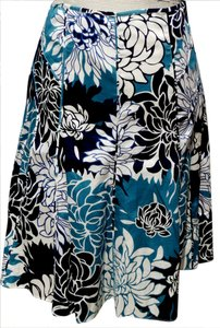 Ann Taylor Skirt Blue Multi Floral
