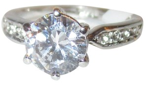 OtherRLS GENUINE Sterling Silver 2.5 CARAT Clear ROUND CZ Wedding or Engagement Ring Size 6.5