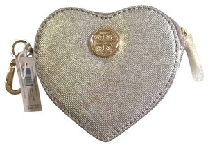 Tory Burch Robinson Leather Heart Key Fob