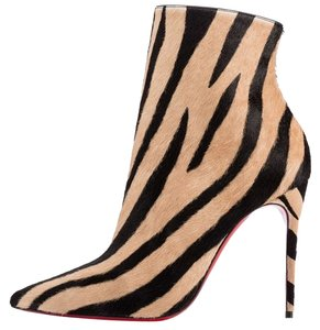 Christian Louboutin So Kate Pony Hair zebra Boots
