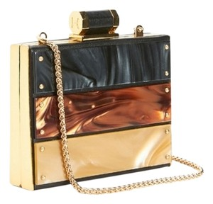 Halston Black Multi Clutch