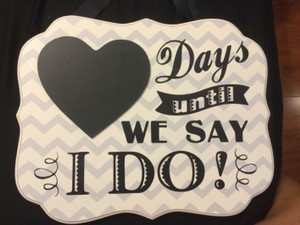 Wedding Count Down Decor Hanging Board