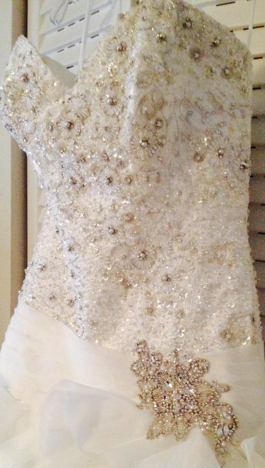 White Quality Fabric Designer Stunning Formal Wedding Dress Size 6 S