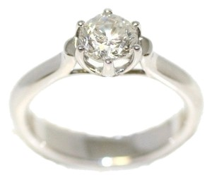 Tulip Solitaire Diamond Engagement Ring