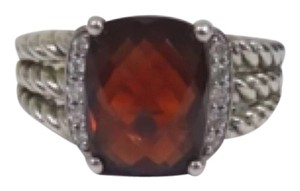 David Yurman David Yurman Petite Wheaton Garnet and Diamond Ring