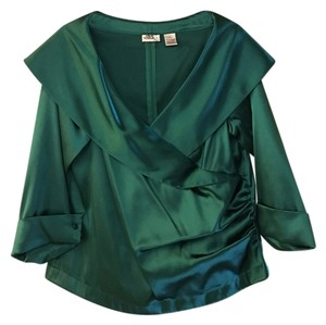 Top Emerald Green Silk/Polyester