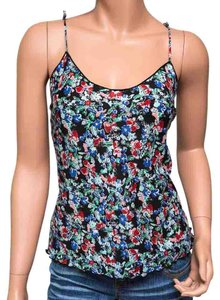 Saks Fifth Avenue Floral Silk Cami Top Multi-color