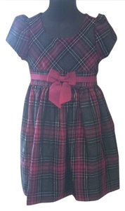 Bonnie Jean short dress fuchsia black silver and grey plaid Toddler 4t on Tradesy
