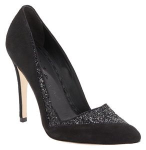 Alice + Olivia Suede Comfortable Padded And Black Pumps