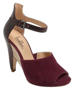 Belle by Sigerson Morrison Lizard Suede Wedge Deep Purple Wedges