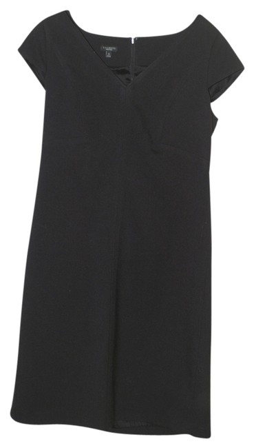 Preload https://item2.tradesy.com/images/talbots-black-v-neck-day-to-night-cap-sleeve-knee-length-workoffice-dress-size-10-m-1008781-0-0.jpg?width=400&height=650