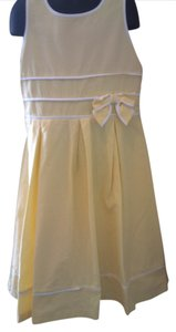 The Children's Place short dress yellow Long White Girls Size 10 on Tradesy
