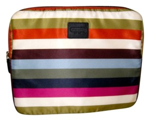 Coach Limited Edition RARE 70th Anniversary COACH Legacy Stripe Sateen Laptop Case Sleeve