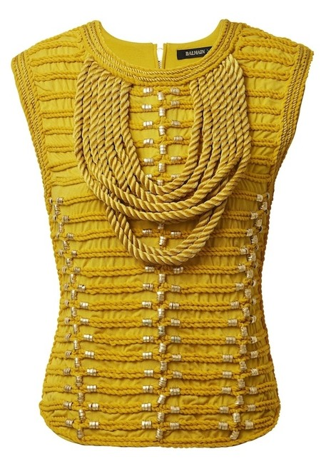 Item - Rope Military Yellow and Gold Top