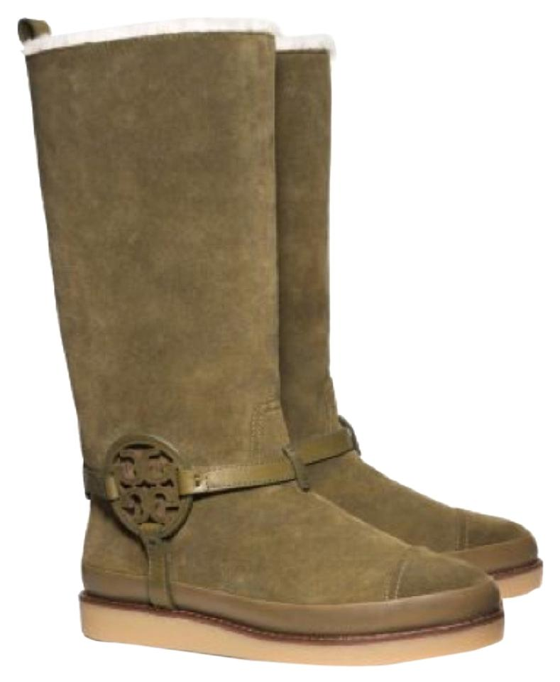 Tory Burch Boots/Booties Olive Green Dana Shearling Boots/Booties Burch c2f17e