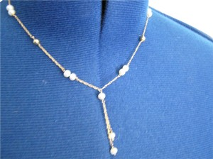 Beautiful real gold and real pearl drop necklace with matching two pairs of earrings